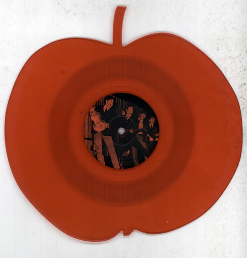 The Beatles Interview - Red Apple Shape shaped picture disc (picture disc vinyl record) UK BTLSHIN62996