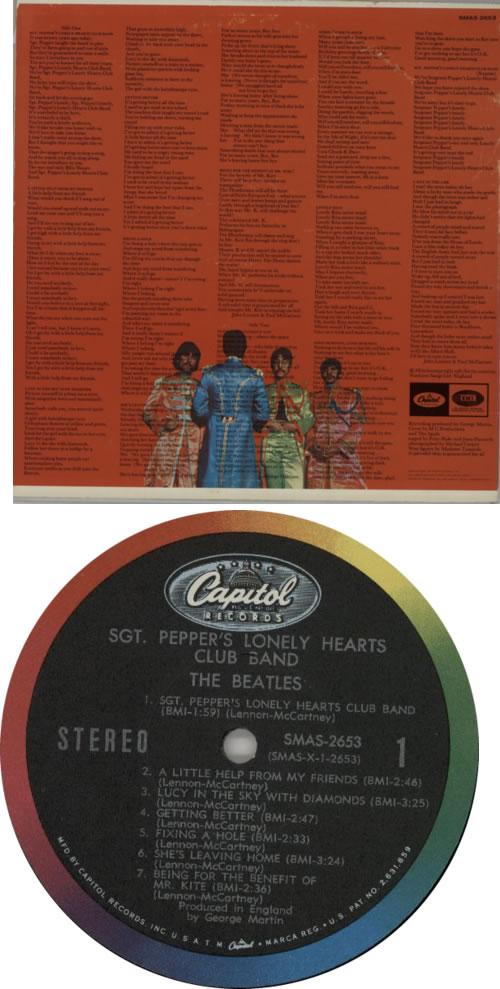 The Beatles Sgt. Pepper's - 1st - 1B vinyl LP album (LP record) US BTLLPSG594623