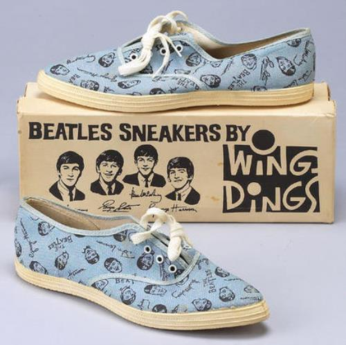 The Beatles Wing Ding Sneakers - Blue - Size 3 memorabilia US BTLMMWI390636