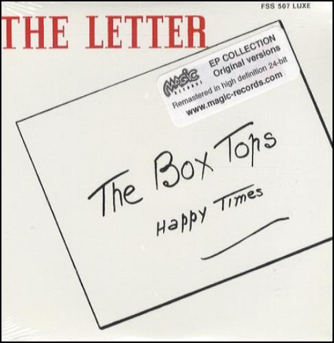 "The Box Tops The Letter / Cry Like A Baby CD single (CD5 / 5"") French BXTC5TH355326"