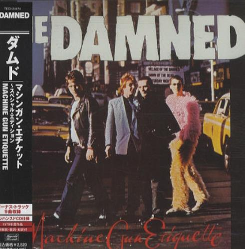 The Damned Machine Gun Etiquette CD album (CDLP) Japanese DAMCDMA432624
