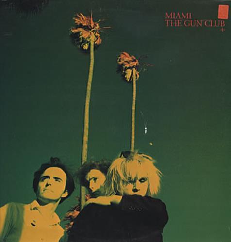 The Gun Club Miami - Gold Promo Stamped vinyl LP album (LP record) UK GCBLPMI177776