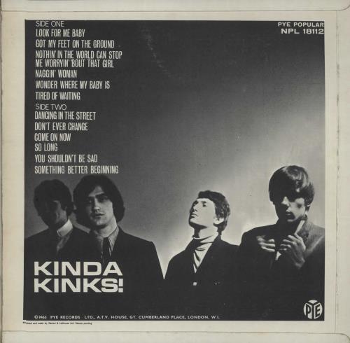 The Kinks Kinda Kinks - 1st - EX vinyl LP album (LP record) UK KINLPKI664811