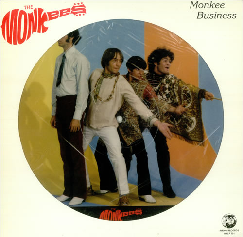 The Monkees Monkee Business picture disc LP (vinyl picture disc album) US MKEPDMO115173