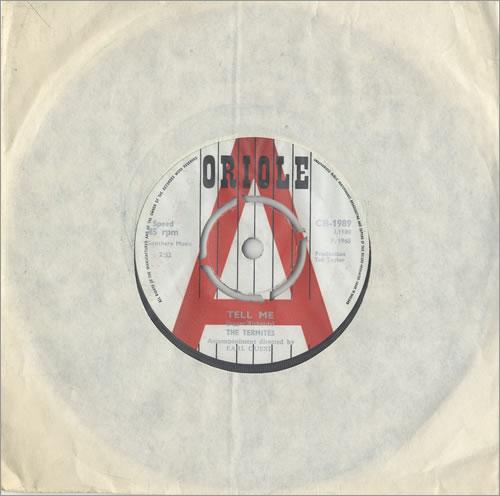"The Termites (60s) Tell Me 7"" vinyl single (7 inch record) UK T7M07TE466069"