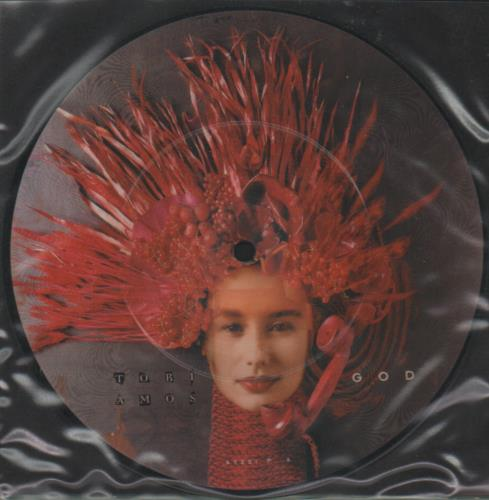 """Tori Amos God 7"""" vinyl picture disc 7 inch picture disc single UK TOR7PGO34425"""