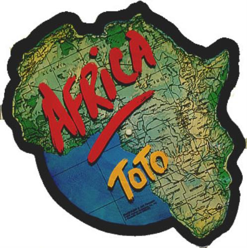 Toto Africa shaped picture disc (picture disc vinyl record) US TOTSHAF350927