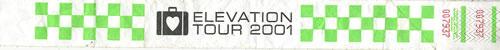 U2 Elevation Tour 2001 memorabilia US U-2MMEL450831