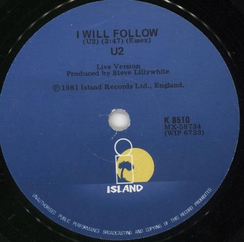 "U2 Gloria 7"" vinyl single (7 inch record) New Zealand U-207GL562303"