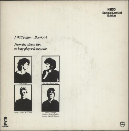 "U2 I Will Follow 7"" vinyl single (7 inch record) New Zealand U-207IW240979"