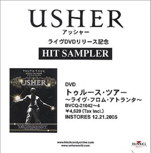 Usher Hit Sampler CD-R acetate Japanese UHECRHI352805