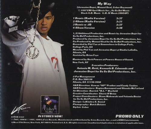 "Usher My Way CD single (CD5 / 5"") US UHEC5MY466153"