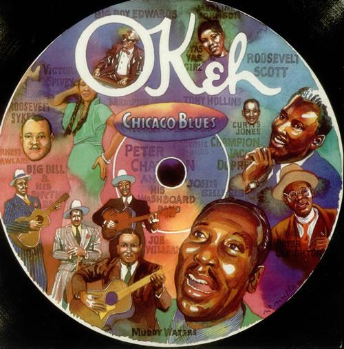Various-Blues & Gospel Okeh - Chicago Blues 2-LP vinyl record set (Double Album) UK V-B2LOK546261