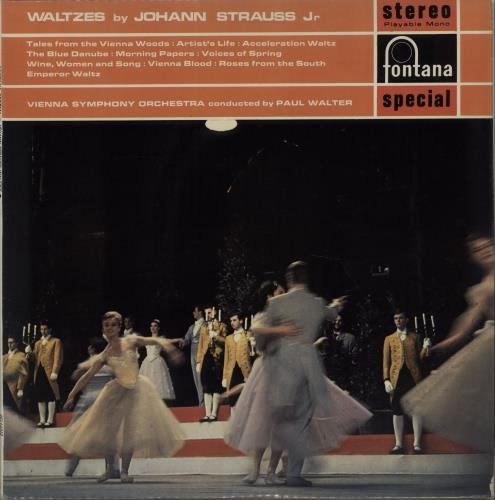 Vienna Symphony Orchestra Waltzes By Johann Strauss Jr. vinyl LP album (LP record) UK XJ0LPWA669359
