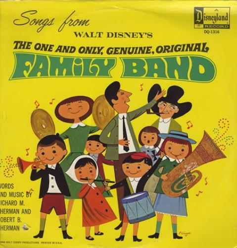 Walt Disney Family Band vinyl LP album (LP record) US W-DLPFA360614