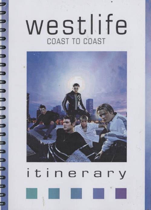 Westlife Coast To Coast Itinerary Itinerary UK WLIITCO468677