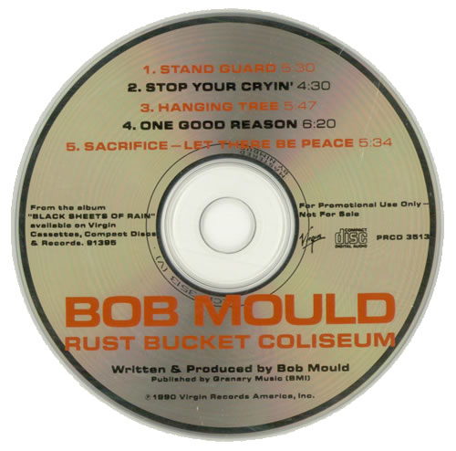 Bob Mould Rust Bucket Coliseum 1990 USA CD single PRCD3513