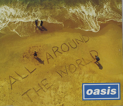 Oasis All Around The World 1998 UK CD single CRESCD282P