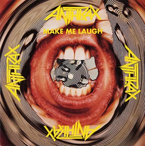 "Image of Anthrax Make Me Laugh 1988 UK 7"" vinyl ISC379"