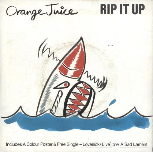 Orange Juice Rip It Up  Double Pack 1983 UK 7 vinyl POSPD547