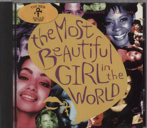 Prince The Most Beautiful Girl In The World 1994 USA CD single BR725142