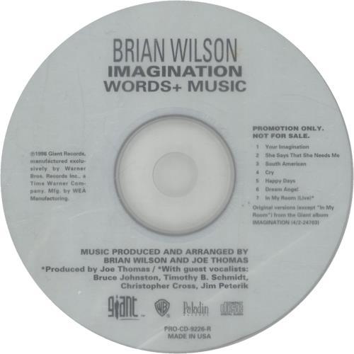 Wilson, Brian - Imagination - Words & Music