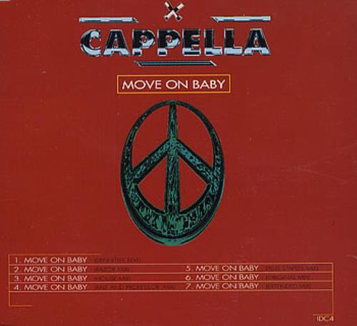 Cappella Move On Baby 1994 UK CD single IDC4
