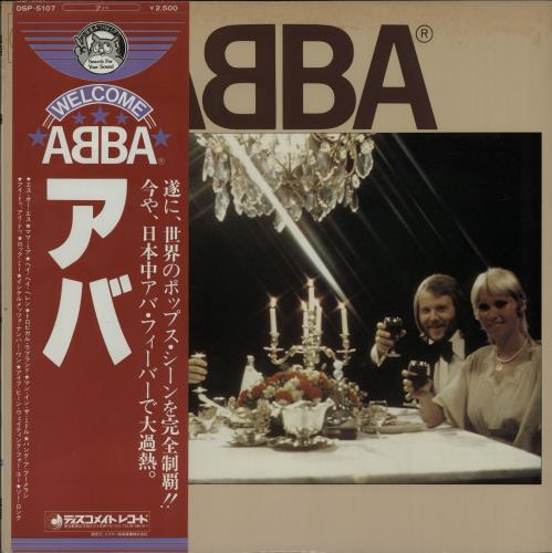 Abba Abba  Welcome ObiStrip 1975 Japanese vinyl LP DSP5107