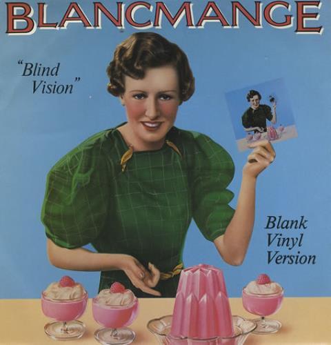 "Blancmange Blind Vision - Clear Vinyl 1983 UK 7"" vinyl BLATP5"