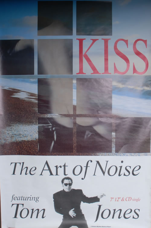 Art Of Noise Kiss 1988 UK poster 60 X 40 FLY POSTER