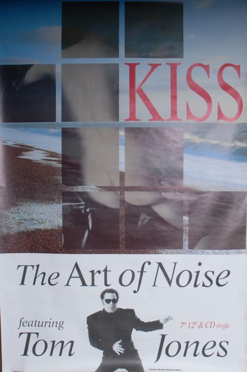 Art Of Noise Kiss 1988 UK poster 60 X 40 FLY POSTER