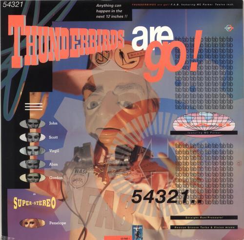 Thunderbirds Thunderbirds Are Go 1990 UK 12 vinyl 12FAB1