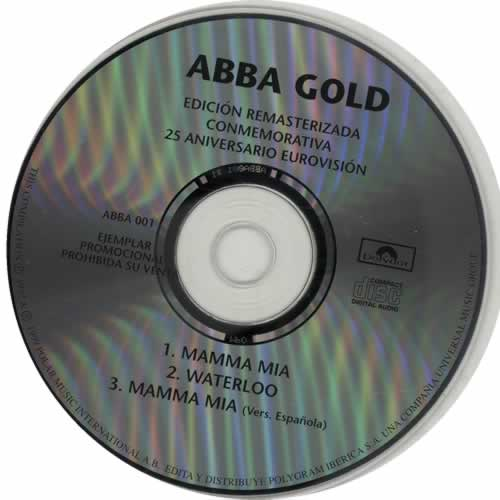 Abba Abba Gold Sampler 1 1999 Spanish CD single ABBA001