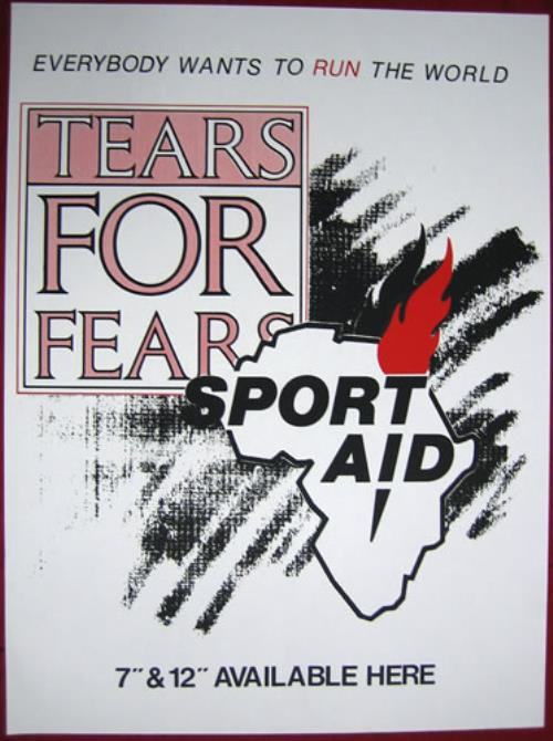 Tears For Fears Everybody Wants To Run The World 1985 UK poster 20 X 15