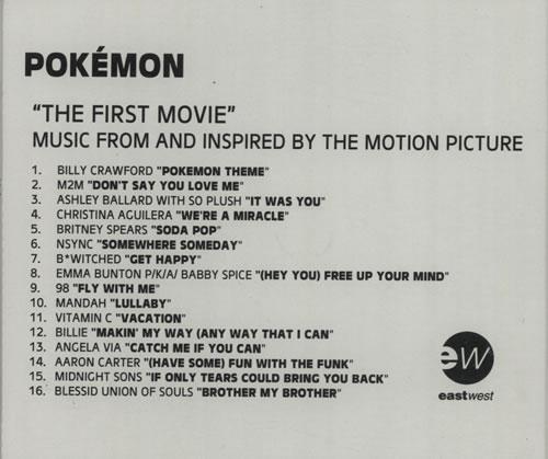 Britney Spears Soda Pop - Pokemon Soundtrack UK CD-R acetate CD ACETATE