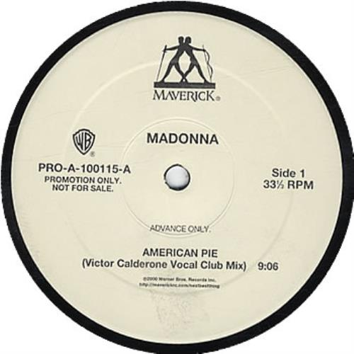 Madonna American Pie  advance 2000 USA 12 vinyl PROA100115A