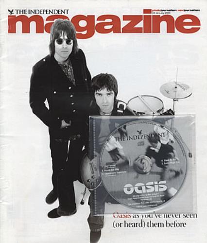 Oasis The Independent  Magazine 2000 UK CD single CD  MAGAZINE
