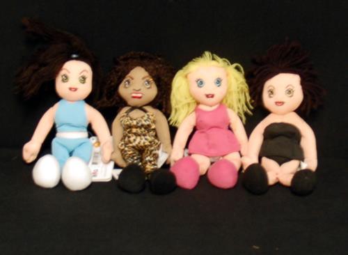 Spice Girls Set Of 4 Bean Bags 1998 USA memorabilia BEANIES