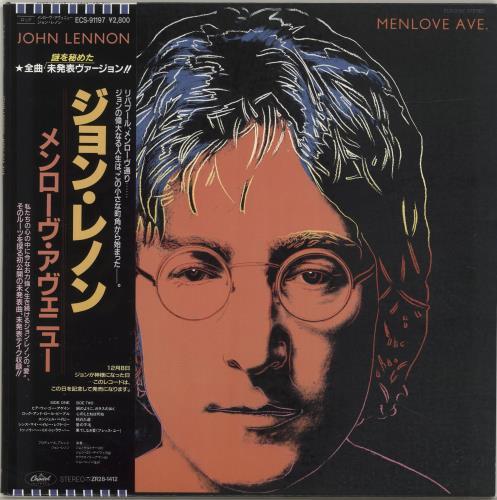 John Lennon Menlove Ave 1986 Japanese vinyl LP ECS91197