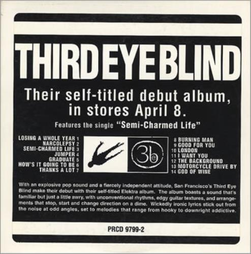 Third Eye Blind Third Eye Blind 1997 USA CD album PRCD97992