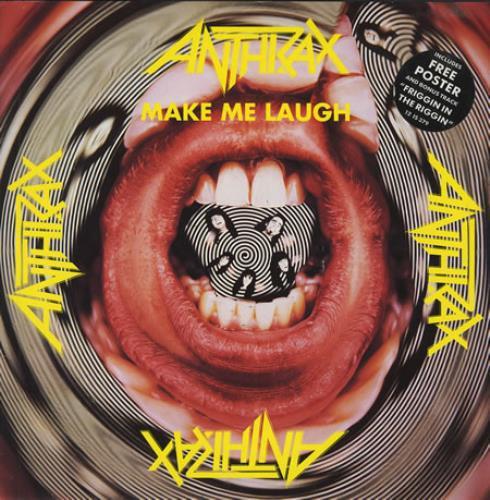 "Image of Anthrax Make Me Laugh + Poster 1988 UK 12"" vinyl 12IS379"