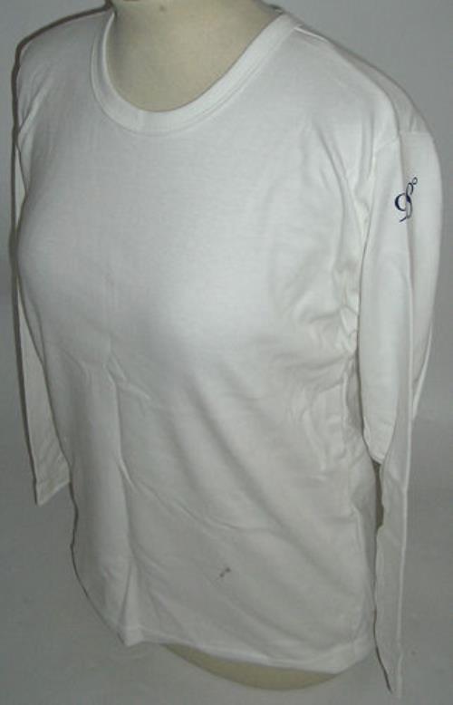 Image of 98 Degrees 98o white skinny fit long sleeve UK t shirt PROMO T SHIRT