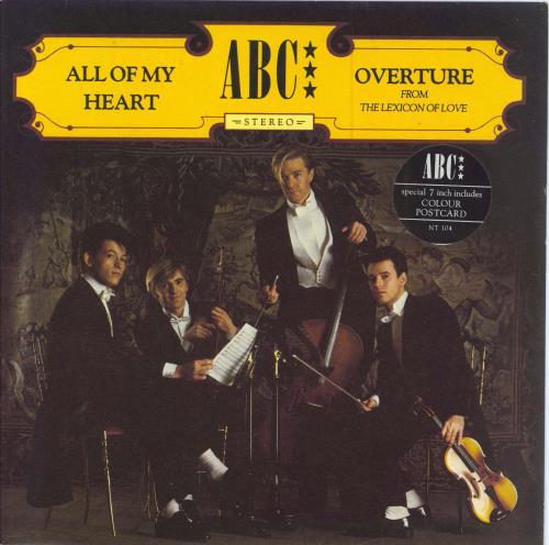 ABC All Of My Heart  Postcard 1982 UK 7 vinyl NT104