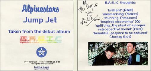 Alpinestars Jump Jet  Autographed UK CDR acetate CD ACETATE