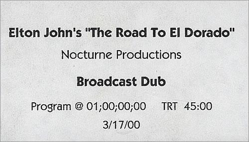 John, Elton - The Road To El Dorado - Broadcast Dub