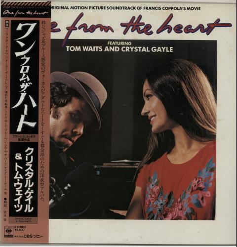Tom Waits One From The Heart 1982 Japanese vinyl LP 25AP2436