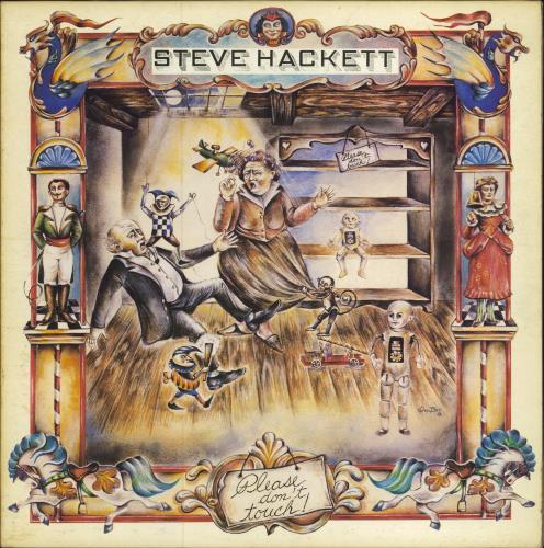 Steve Hackett Please Dont Touch  pink madhatter 1978 UK vinyl LP CDS4012
