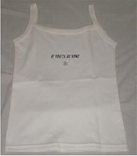 Image of Babybird If You'll Be Mine white vest UK t shirt PROMO T SHIRT