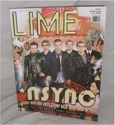 N Sync Lime 2001 Singapore magazine ISSUE NO 57