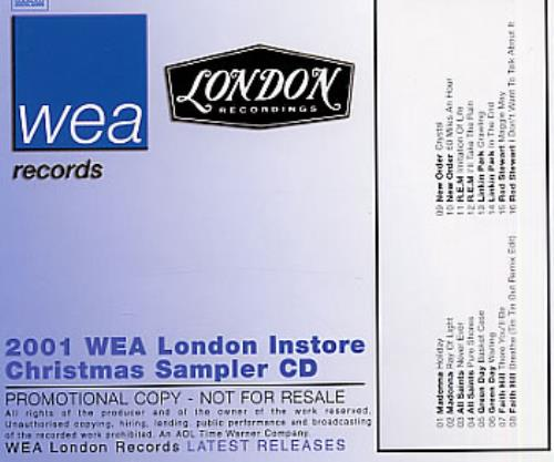 2001 Wea London Instore Christmas Sampler